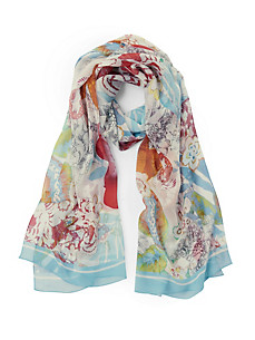 "Roeckl - Scarf ""Lace Flowers"" in 100% silk"