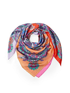 "Roeckl - Shawl ""Colour-Blocking Paisley"" in 100% silk"