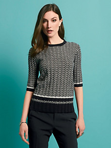 Strenesse - Pullover with 1/2-length sleeves