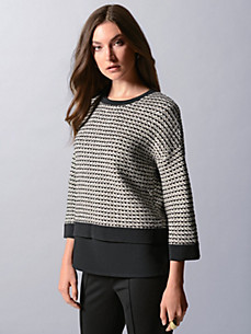 Strenesse - Round neck jumper with 3/4-length sleeves