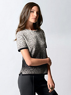 Strenesse - Round neck pullover with 1/4-length sleeves