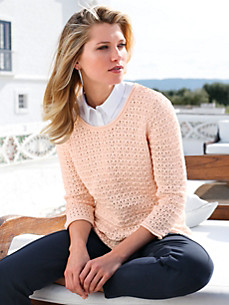 Uta Raasch - Round neck pullover with 3/4-length sleeves