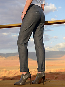 Windsor - Ankle-length trousers with pre-pressed creases