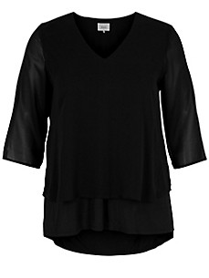 zizzi - Blouse top with 3/4-length sleeves