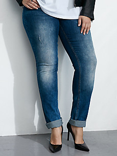 "zizzi - ""Nille Slim"" jeans with a button fastening"
