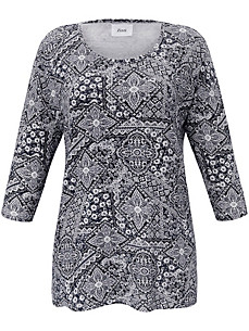 zizzi - Top with trendy ornament print