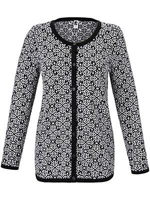 Anna Aura - Cardigan in 100% new milled wool
