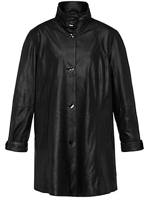 Anna Aura - Leather swing coat
