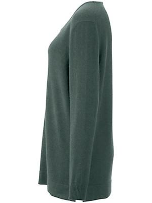 Anna Aura - Round neck jumper in 100% cashmere