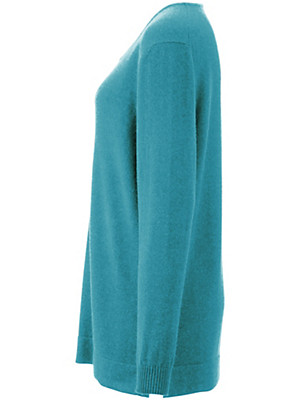Anna Aura - Round neck jumper in 100% cashmere