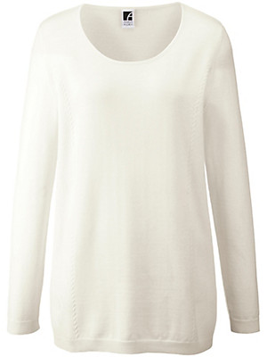 Anna Aura - Round neck jumper in 100% new milled wool