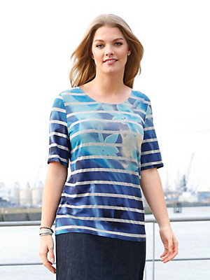 Anna Aura - Round neck top with short sleeves