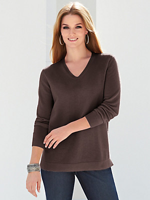 Anna Aura - V neck jumper in 100% cashmere