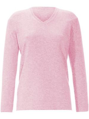 Anna Aura - V neck jumper in 100% cashmere