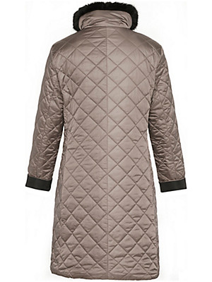 Basler - Reversible quilted coat - black/taupe