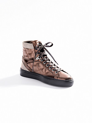 Bogner - Calfskin nappa ankle-high trainers