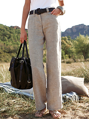 "Brax Feel Good - ""Feminine Fit"" trousers in 100% linen"