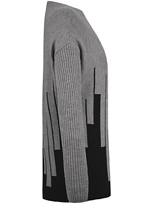 Emilia Lay - Round neck jumper in 100% new milled wool