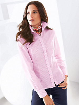 Eterna - Iron-free blouse with long sleeves