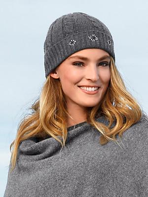 FLUFFY EARS - Hat in 100% cashmere