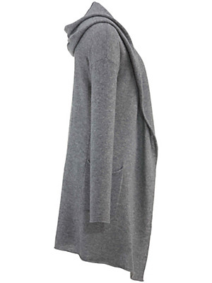 FLUFFY EARS - Hooded cardigan in 100% cashmere