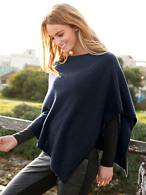 FLUFFY EARS - Poncho in 100% cashmere