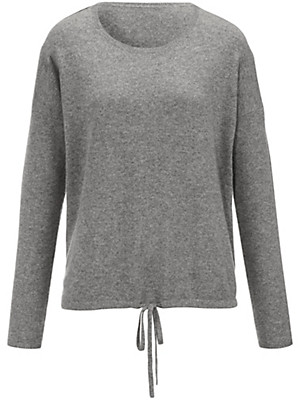 FLUFFY EARS - Round neck jumper in 100% cashmere