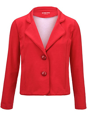 Green Cotton - Jersey blazer