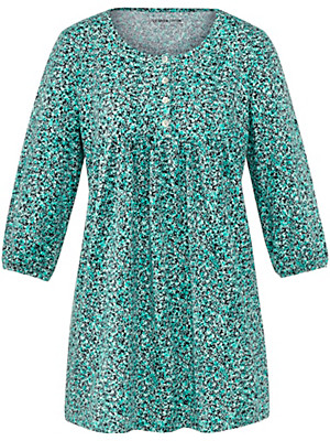 Green Cotton - Jersey tunic drawstrings at the 3/4 length sleeves