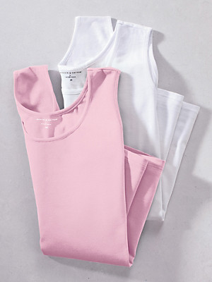 Green Cotton - Round neck tops – pack of 2