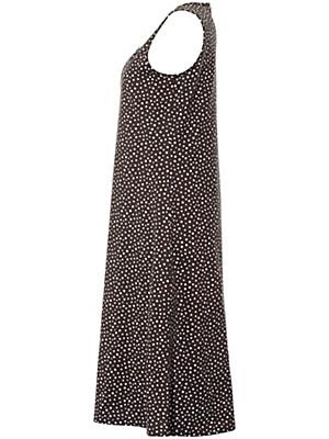 Green Cotton - Strap dress with polka dot print