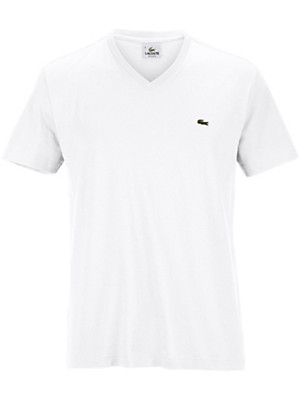 Lacoste - V neck top with 1/2-length sleeves