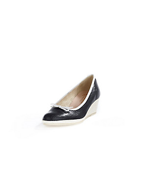 Ledoni - Fine kidskin nappa wedge pumps