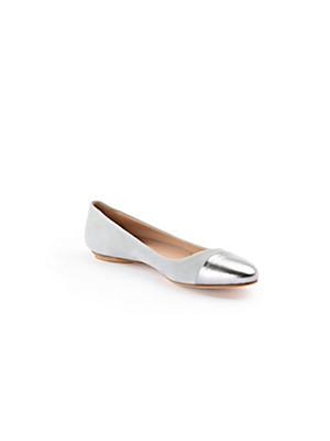Ledoni - Velvety nubuck leather ballerinas