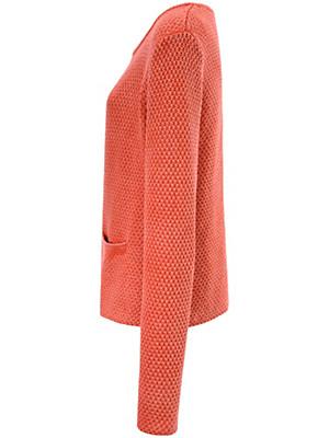 LIEBLINGSSTÜCK - Cotton cardigan in waffle knit