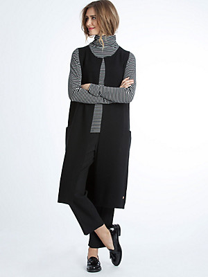 LIEBLINGSSTÜCK - Extra-long jersey gilet in a trendy look
