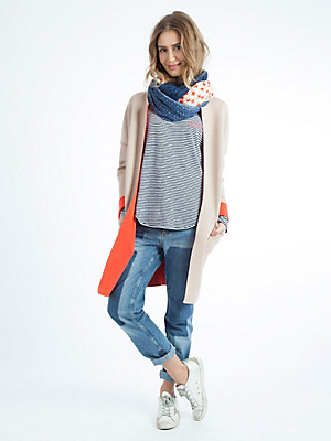 LIEBLINGSSTÜCK - Jersey coat in double-faced material