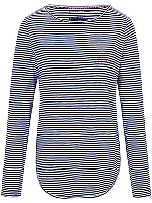 LIEBLINGSSTÜCK - Striped top with embroidered lettering