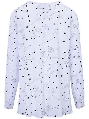 LIEBLINGSSTÜCK - V neck viscose blouse in an A line cut