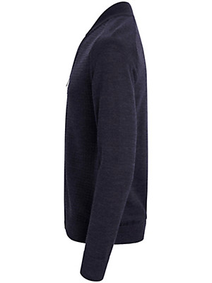 MAERZ - Cardigan in 100% new milled wool