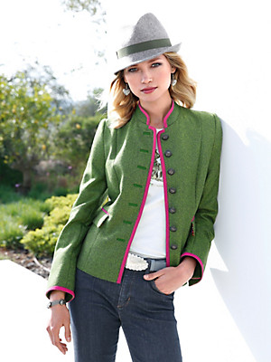 Münchner Manufaktur - Country style jacket with a raised collar