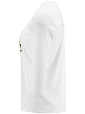 Münchner Manufaktur - Round neck top with 3/4-length sleeves
