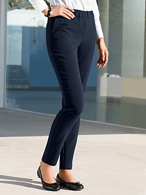 Peter Hahn - Ankle-length jersey pull-on trousers