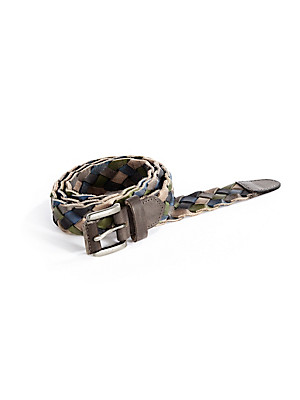 Peter Hahn - Belt made from braided cowskin leather bands