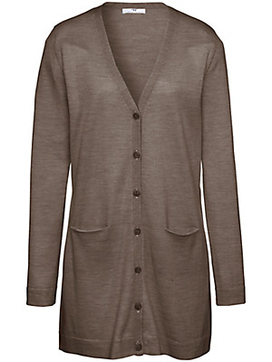 Peter Hahn - Cardigan in 100% new milled wool