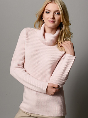 Peter Hahn Cashmere Gold - Round neck top in 100% cashmere
