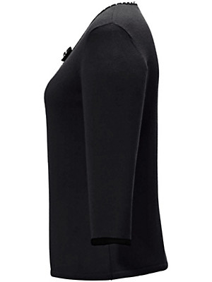 Peter Hahn Cashmere - Jumper with round neck and 3/4-length sleeves