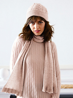 Peter Hahn Cashmere - Knitted scarf in 100% cashmere