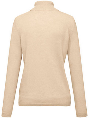 Peter Hahn Cashmere Nature - Polo neck jumper in 100% cashmere