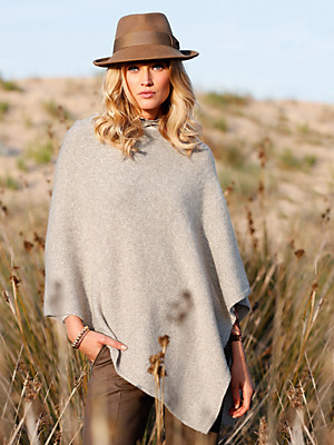 Peter Hahn Cashmere Nature - Poncho in 100% cashmere